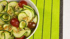 Salade de rubans de courgette et haricots verts