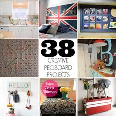 Pegboard are such a fun and inexpensive way to  organize... here are 38 awesome ideas!