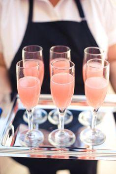 brides signature drink- pink bellini?