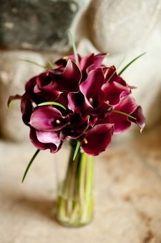 photo of dark pink and green bouquet - photo by Denver based wedding photographers Adam and Imthiaz