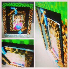 Minecraft picture frame perler beads by bitsandpixels