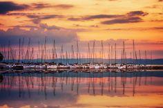 Balaton Sunset by Laszlo Gál