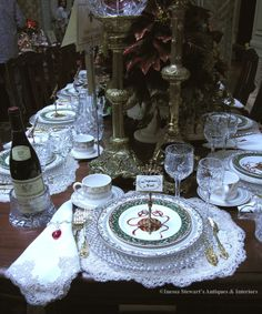 vintage table settings   Another Antique Christmas Table Setting ...   ~ Antique Christmas Ins ...