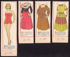 Marilyn Monroe 1950s Paper Doll.  A good likeness I think.