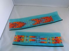 Vicky Harris - Tapestry kiln fused channel plates