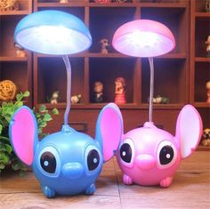New Cartoon Lilo Stitch Charging Eyecare Reading Table Desk Lamp Led Light Gift