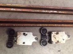 vintage barn door rollers and 10u0027 of track