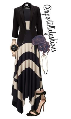 """Apostolic Fashions #1741"" by apostolicfashions on Polyvore featuring Phase Eight, Gianvito Rossi, Wallis, Chicnova Fashion and Kate Spade"