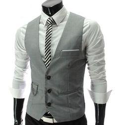 Men's Business Blazers Sleeveless Waistcoats Vests