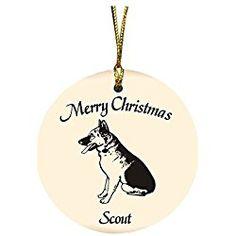 Personalized German Shepherd Christmas Ornament Merry Christmas, Christmas Ornaments, German, Merry Christmas Background, Xmas Ornaments, Deutsch, Happy Merry Christmas, German Language, Christmas Jewelry