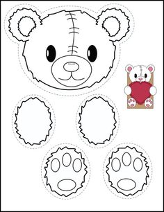 Bear and bunny printables for creating classroom valentine bags.: