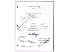 You are considering a color reprint from the Original Movie Script, Gone With The Wind Final Shooting Script dated January 24, 1939 Screenplay written by Sidney Howard, Directed by Victor Fleming. The