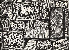 Jean Dubuffet (1901-1985)  Memoration XX