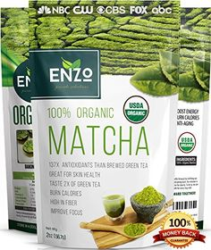 Matcha Green Tea Powder 2oz - Strong Milky Taste USDA Organic Certified - 137x Antioxidants Over Brewed Green Tea - Great for Latte, Smoothie, Ice Cream, Baking & Alternative Coffee Substitute -- Find out more about the great product at the image link.