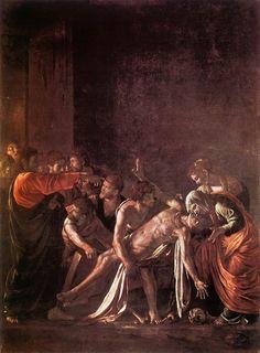 """Caravaggio """"Raising of Lazarus"""" (1609) Museo Regionale, Messina"""