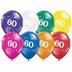 Birthday Latex Balloons ** You can find more details by visiting the image link. (This is an affiliate link) Latex Balloons, 60th Birthday, Program Design, Jewel Tones, Party Supplies, Jewels, Image Link, Advertising, Decorations