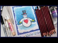 Stamp School: Colored Pencils & Gamsol AND Liquid Applique!   Thefrugalcrafter's Weblog