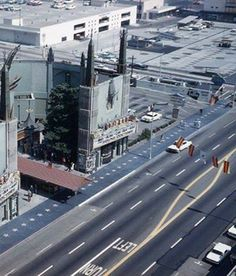 Spectacular 1961 aerial view of Grauman's Chinese Theatre.
