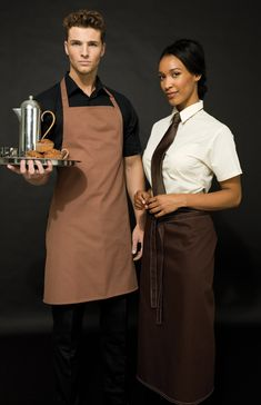 Complementing coloured aprons from Premier Workwear