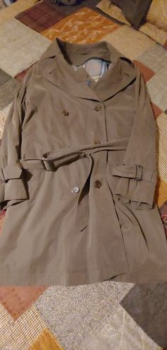 46d6f43c49f7e Burberrys  Of London Brown Women s Trench Size 8  fashion  clothing  shoes
