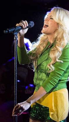 Country music star Carrie Underwood.