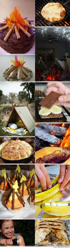 Camping Party Ideas- Pretty much every idea- rolled into one page!