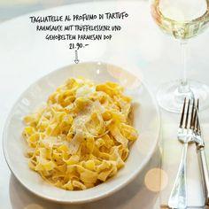 Caro autunno, ti vogliamo bene. Unsere Tagliatelle al profumo di tartufo sind übrigens auch zum Verlieben. Sie sind Teil unserer saisonalen Herbstspezialitäten und soooooo gut.