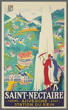 PLM Saint Nectaire Auvergne French Vintage Poster