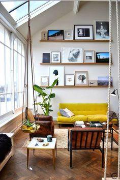ledge gallery wall inspo