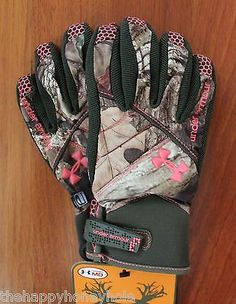 Under Armour STORM Women's Waterproof Camo Gloves Medium NWT ** Medium