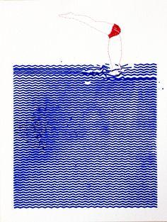 serigraphie-plongeur01-web Textures Patterns, Print Patterns, Illustrations, Illustration Art, Collages, Image Form, Art Graphique, Book Projects, Graphic Design Inspiration