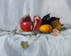Jason Patrick Jenkins - Pomegranate in Fall, oil 9,45 X 7.48 inches