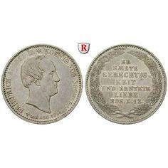 Sachsen, Königreich Sachsen, Friedrich August II., 1/3 Taler 1854, ss-vz: Friedrich August II. 1836-1854. 1/3 Taler 1854. Auf seinen… #coins