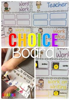 Choice Board in Kindergarten #dailyfive #indpendentwork