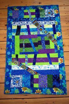 Modern Blue Green Purple Art Quilt Wall by MoranArtandQuilts, $60.00