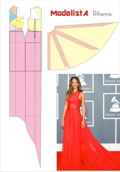 How to make prom dress with red chiffon? Red Silk Chiffon Dress. Prom Dress Idea.