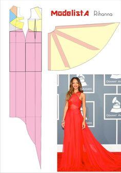 Vestido Rihanna. Grammy Awards