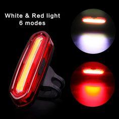 120 Lumenów Akumulator COB LED USB Safety Warning Rowerów MTB Mountain Bike Tylne Światła Tylne Lampy Tylne Światła Rowerów