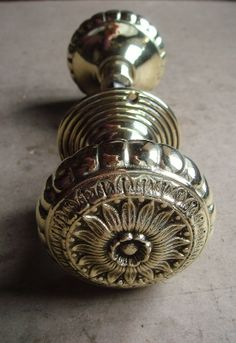 Pair of Victorian Glazed Mineral Door Knobs on 1/4\