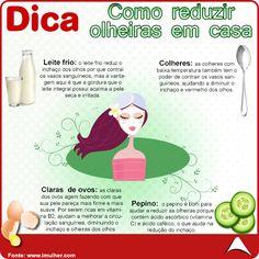 CONFIRA ESSA SUPER DICA !!! APRENDA A REDUZIR AS OLHEIRAS DE MANEIRA PRÁTICA E RÁPIDA !!!  Fique de olho em nossos posts !  #estética #praticidade #emcasa #eucurtoatenas