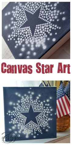 Canvas Star Art for the Fourth of July | Createandbabble.com