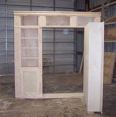 construction of a hidden door shelf system to hide a hidden room rh pinterest com Hidden Gun Compartment Shelves Plans hidden door shelf plans