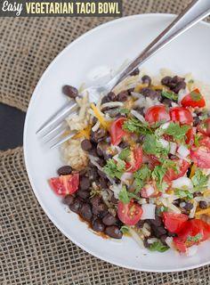 Easy Vegetarian Taco Bowls - This Gal Cooks #vegetarian #glutenfree #30minutemeals