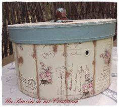Caja estilo romántico y vintage