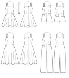 Sewing patterns for fashion clothing, crafts and home decorating. Dress sewing patterns, evening and prom sewing patterns, bridal sewing patterns, plus costume and cosplay sewing patterns. Clothing Templates, Clothing Patterns, Dress Design Drawing, Romper Pattern, Jumpsuit Pattern, Jacket Pattern, Blog Couture, Mccalls Sewing Patterns, Vogue Patterns