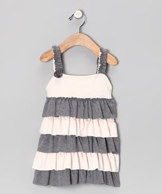 Look at this #zulilyfind! Gray Ruffle Beth Dress - Infant, Toddler & Girls by Classy Couture #zulilyfinds