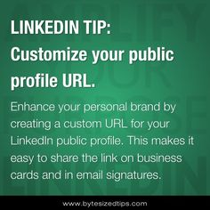 LINKEDIN TIP: Customize Your Public Profile URL http://mgrconsultinggroup.com