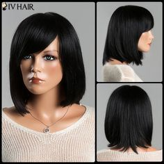 Women's Stunning Medium Straight Side Bang Siv Human Hair Wig #>=#>=#>=#>=#> Click on the pin to check out discount price, color, size, shipping, etc. Save and like it!