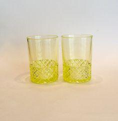vaseline uranium glass tumblers set of 2 gift for mom daughter sister bridal shower