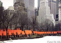 Christo und Jeanne-Claude - The Gates, Postkarte Foto 15